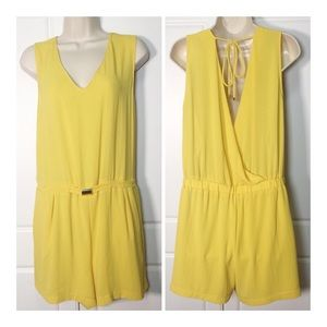 Zara Sunny Yellow Belted Romper